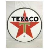 RARE 6FT. EMB. PLASTIC TEXACO SIGN