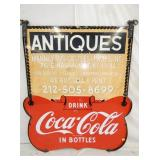 47X55 PORC. COCA COLA BOTTLES SIGN