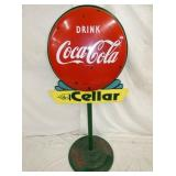 24IN COKE LOLLY POP SIGN W/ BASE