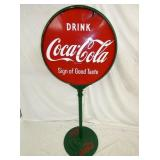 COCA COLA LOLLY POP SIGN W/ BASE