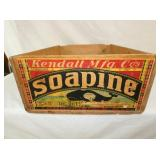 19X24 SOAPINE WOODEN ADV. BOX