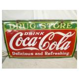 VIEW 2PORC. DRUG STORE COKE SIGN