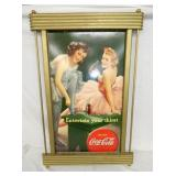 VIEW 2 COKE SIGN W/ ORIG. COKE FRAME