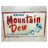 36X60 1964 MT. DEW SIGN W/ WILLIE