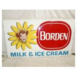 46X80 EMB. BORDEN MILK/ICE CREAM SIGN