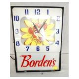 15X20 BORDENS LIGHTUP CLOCK W/ ELSIE