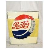 42X48 NOS 1956 PEPSI COLA CAP SIGN
