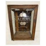 16X21 RARE SAUERS EXTRACTS CABINET