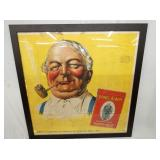 43X43 FRAMED CLOTH JF REYNOLDS ADV.