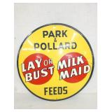 20IN EMB. TIN PARK POLLARD FEEDS SIGN
