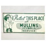 10X20 EMB. TIN MULLINS HYBRIDS SIGN