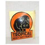 13X15 TROPICAL PAINTS FLANGE SIGN