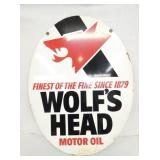 23X30 WOLFS HEAD MOTOR OIL SIGN