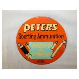 6IN PETERS AMMUNITION SIGN