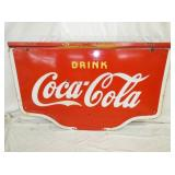 38X60 PORC. COCA COLA STATION SIGN