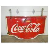 38X60 PORC COCA COLA SIGN W/ HANGERS