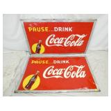 32X56 PAUSE DRINK COKE SIGNS