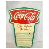 16IN FISHTAIL COKE CALENDAR SIGN
