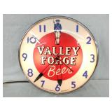 VALLEY FORGE BEER ADV. PAM CLOCK
