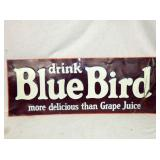 14X35 BLUE BIRD EMB. GRAPE JUICE SIGN