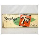 12X30 EMB. 7UP TIN SIGN