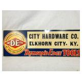 10X28 EMB. DIAMOND EDGE TOOLS SIGN