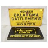 WESTERN CATTLEMENS, UNION SIGN