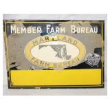 10X13 EMB. FARM BUREAU NOS SIGN
