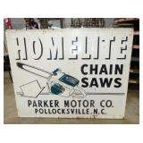 45X57 HOMELITE CHAIN SAWS SIGN