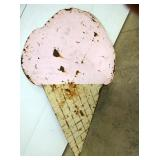 42X67 DIE CUT METAL ICE CREAM CONE SIGN