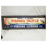 ORIG. 18X59 FISHING TACKLE SIGN