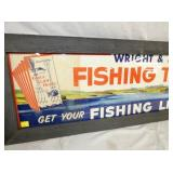 VIEW 2 ORIG. PAPER FISHING SIGN