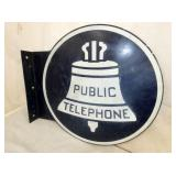 18X20 PUBLIC TELEPHONE FLANGE SIGN