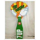 29X71 7UP DIE CUT BOTTLE SIGN