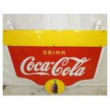 VIEW 4 COKE SWINGER SIGN W/ BRACKETS