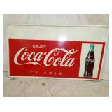 32X55 COKE SELF FRAMED W/ BOTTLE
