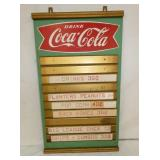 17X29 1/2 COKE FISHTAIL MASONITE MENU