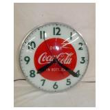 15IN LIGHTED COKE CLOCK