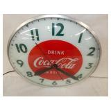 VIEW 2 CLOSEUP COCA COLA CLOCK