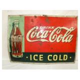 20X27 1923 COCA COLA ICE COLD SIGN