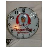 CLICQUOT CLUB LIGHTED DRINK CLOCK