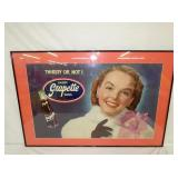 19X31 GRAPETTE SODA CARDBOARD SIGN