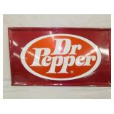14X24 DR. PEPPER EMB. SELF FRAMED SIGN