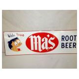 9X27 MAS ROOT BEER SIGN