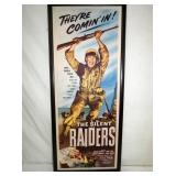 15X37 1954 SILENT RAIDERS CB POSTER