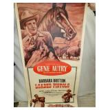 41X79 GENE AUTRY PISTOLS ON CANVAS