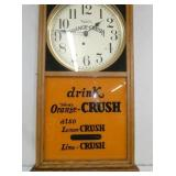 VIEW 2 CLOSEUP DRINK ORANGE CRUSH CLOCK