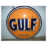 5 1/2FT. PORC. GULF DEALER SIGN