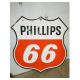 6FT. PORC. PHILLIPS 66 SHIELD SIGN