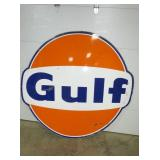 6FT. PORC. GULF BOWTIE SIGN